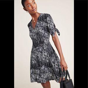 ANTHROPOLOGIE KACHEL Salma Floral Down Dress Sz 4